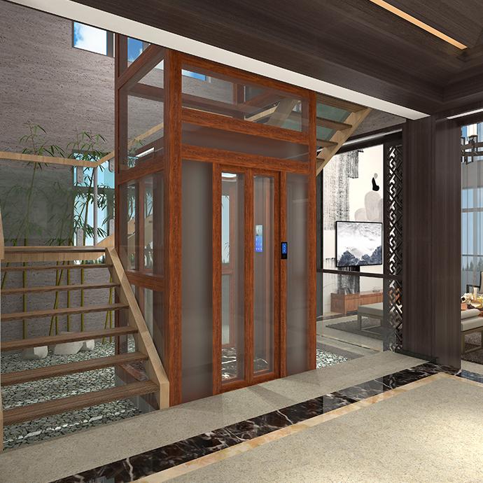 铝合金井道一体化别墅电梯4