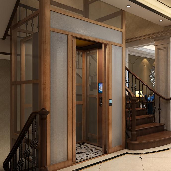 铝合金井道一体化别墅电梯3